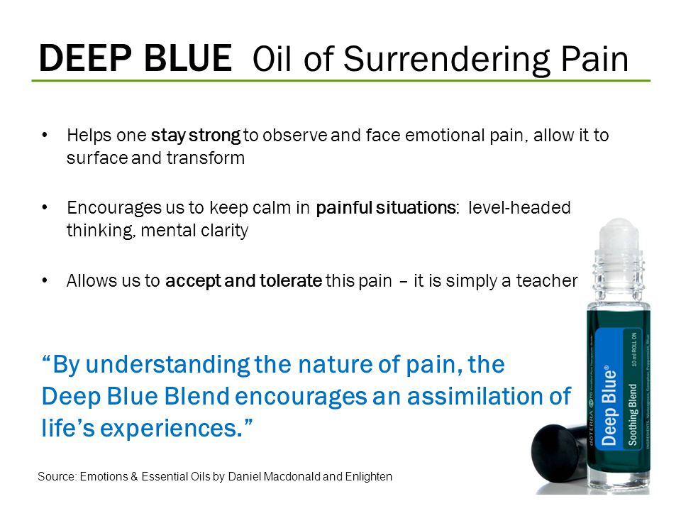 DEEP BLUE Oil of Surrendering Pain