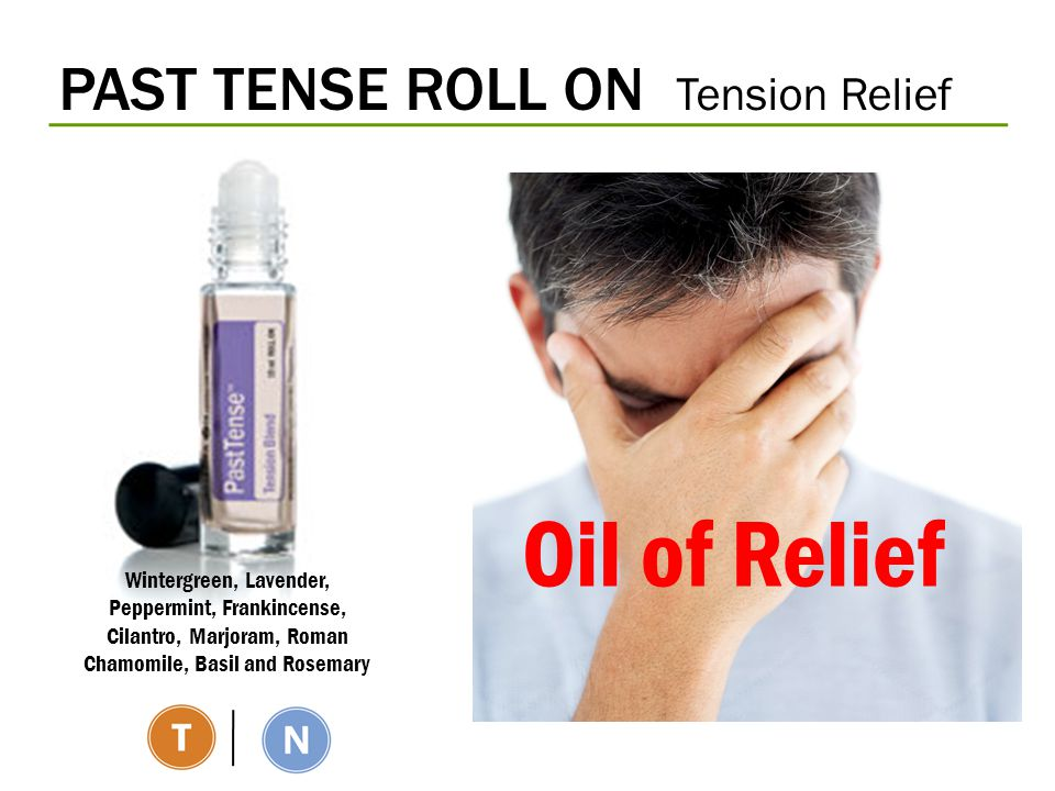 Oil of Relief PAST TENSE ROLL ON Tension Relief