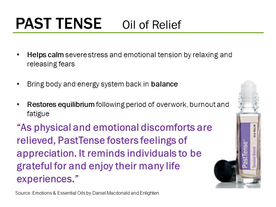 PAST TENSE Oil of Relief