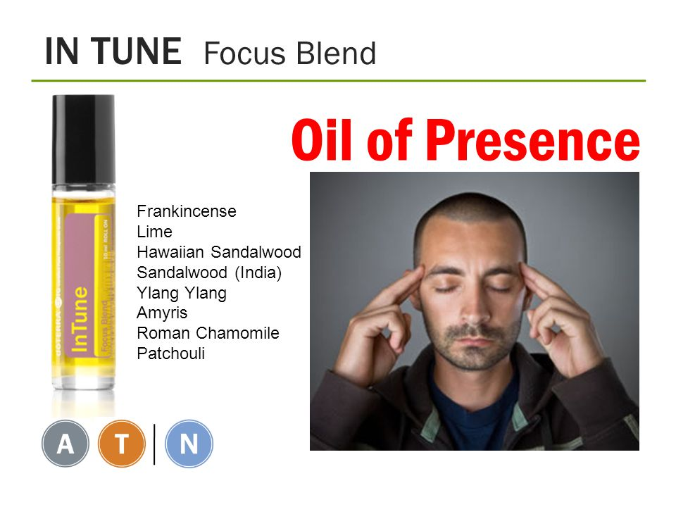 Oil of Presence IN TUNE Focus Blend Frankincense Lime