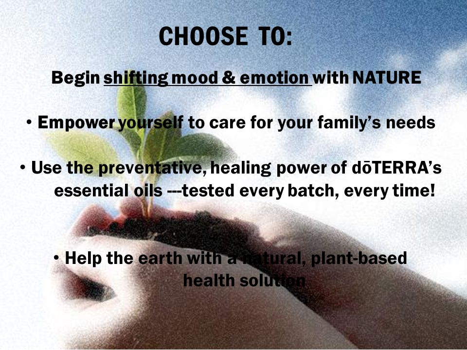 Begin shifting mood & emotion with NATURE