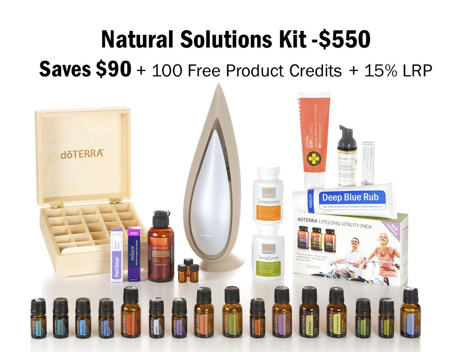 Natural Solutions Kit -$550 Saves $90 + 100 Free Product Credits + 15% LRP
