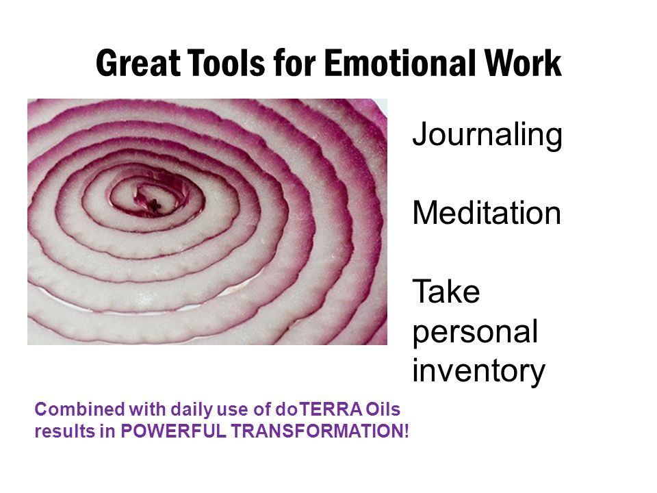 Great Tools for Emotional Work