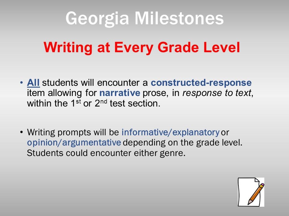 Writing at Every Grade Level
