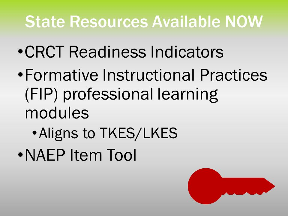 State Resources Available NOW