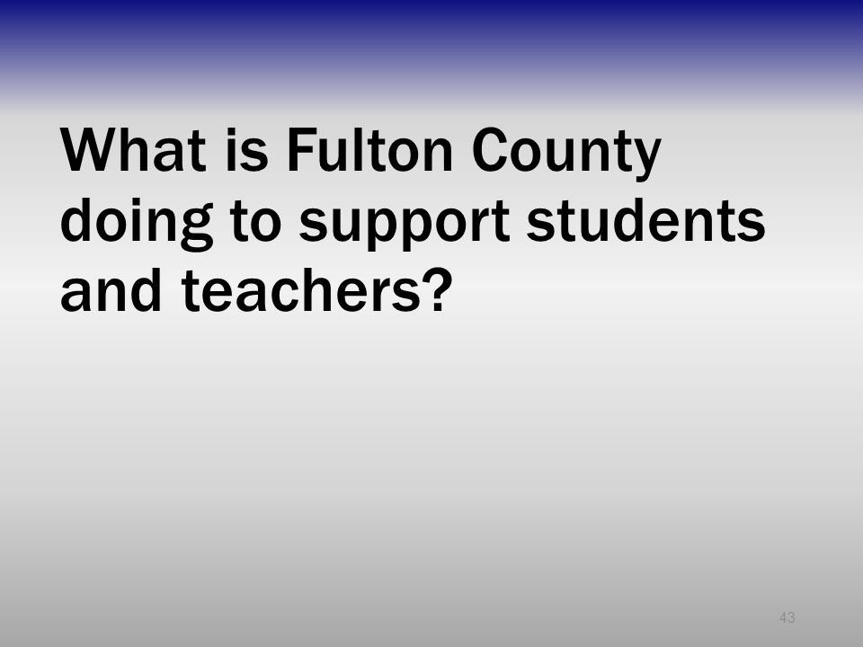 What is Fulton County doing to support students and teachers