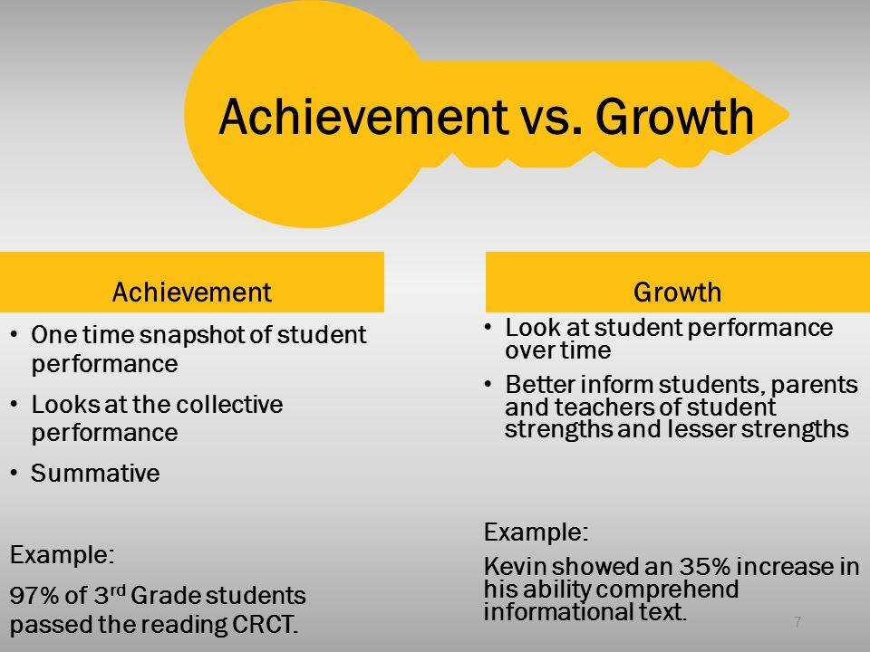 Achievement vs. Growth Achievement Growth