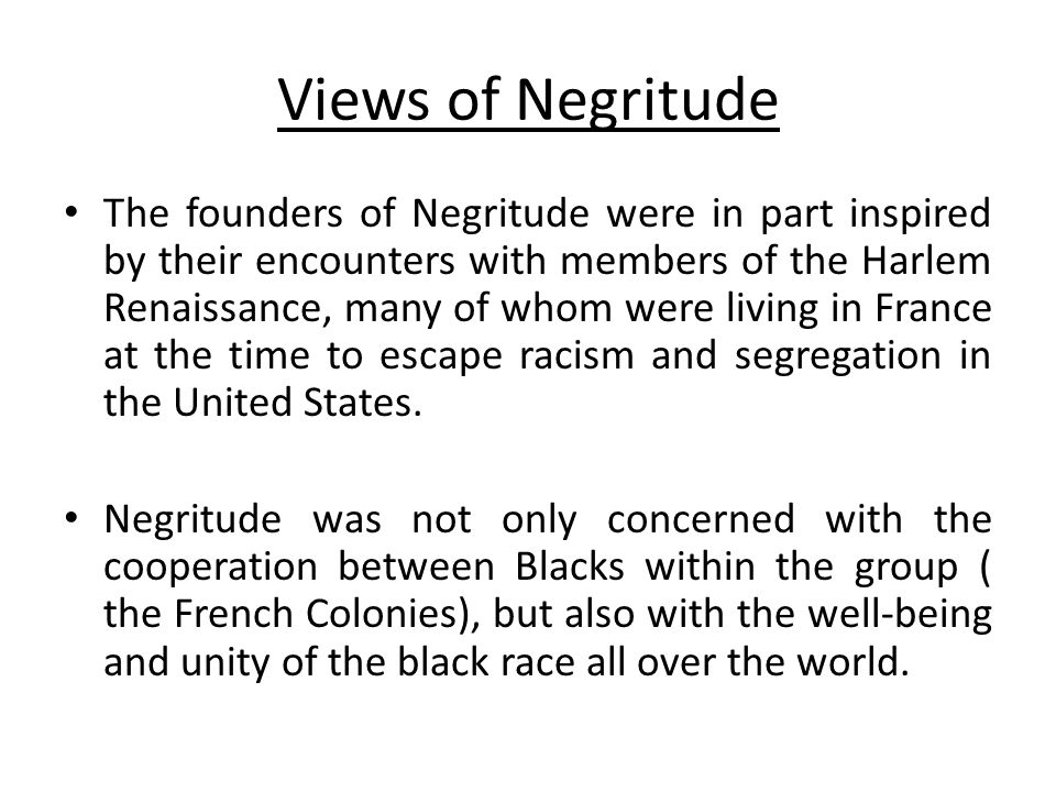 Views of Negritude