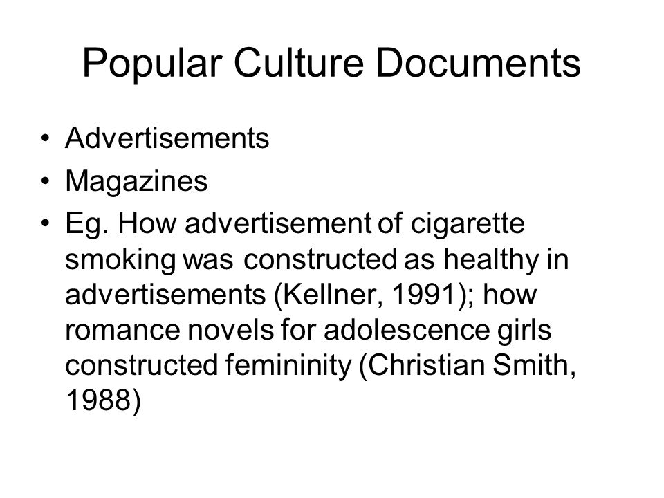 Popular Culture Documents