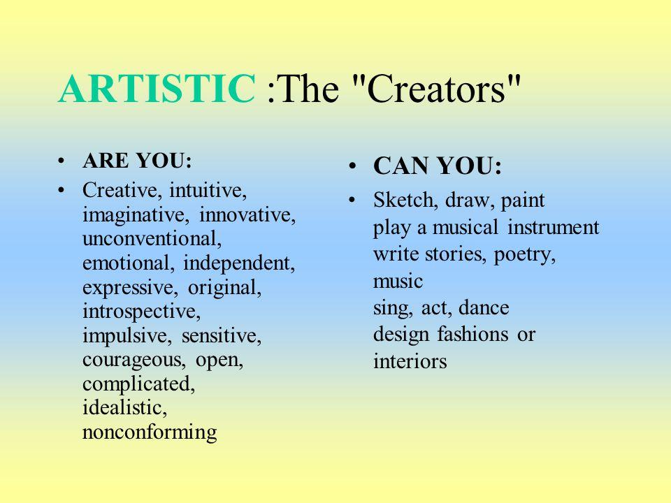 ARTISTIC :The Creators