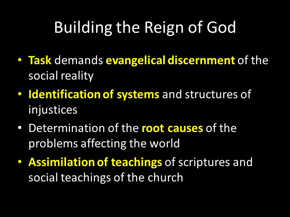 Building the Reign of God