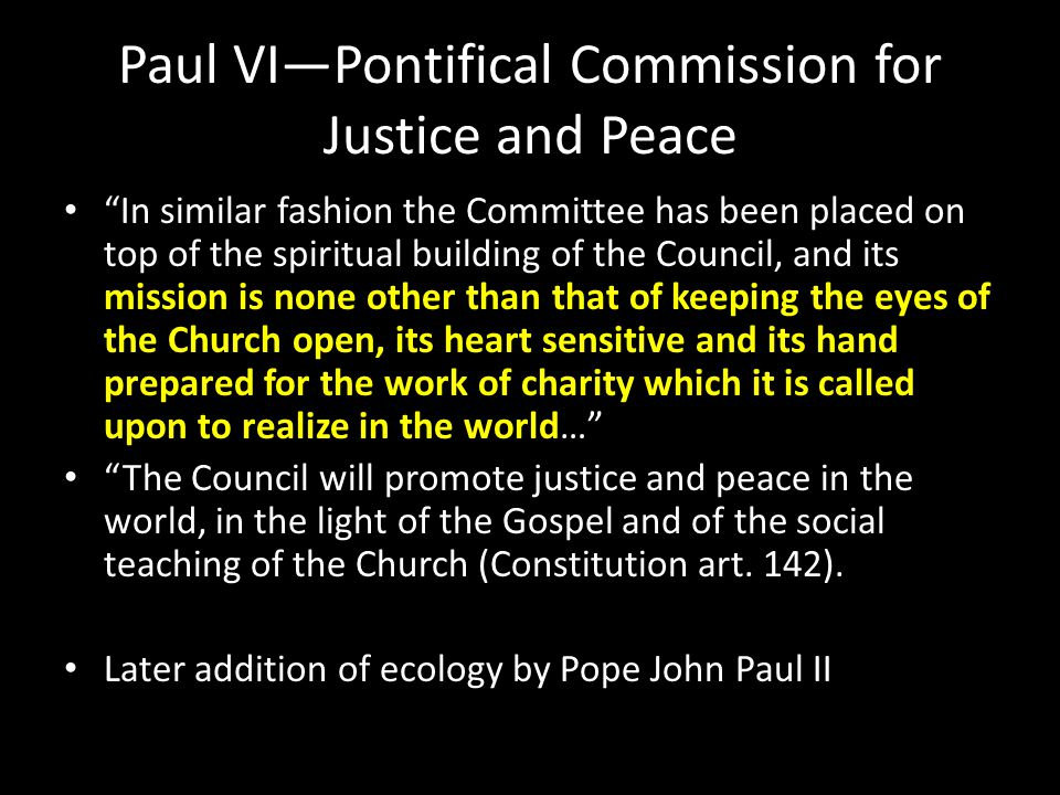 Paul VI—Pontifical Commission for Justice and Peace
