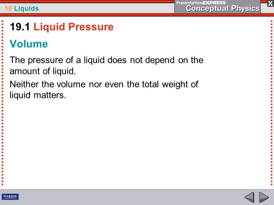 19.1 Liquid Pressure Volume