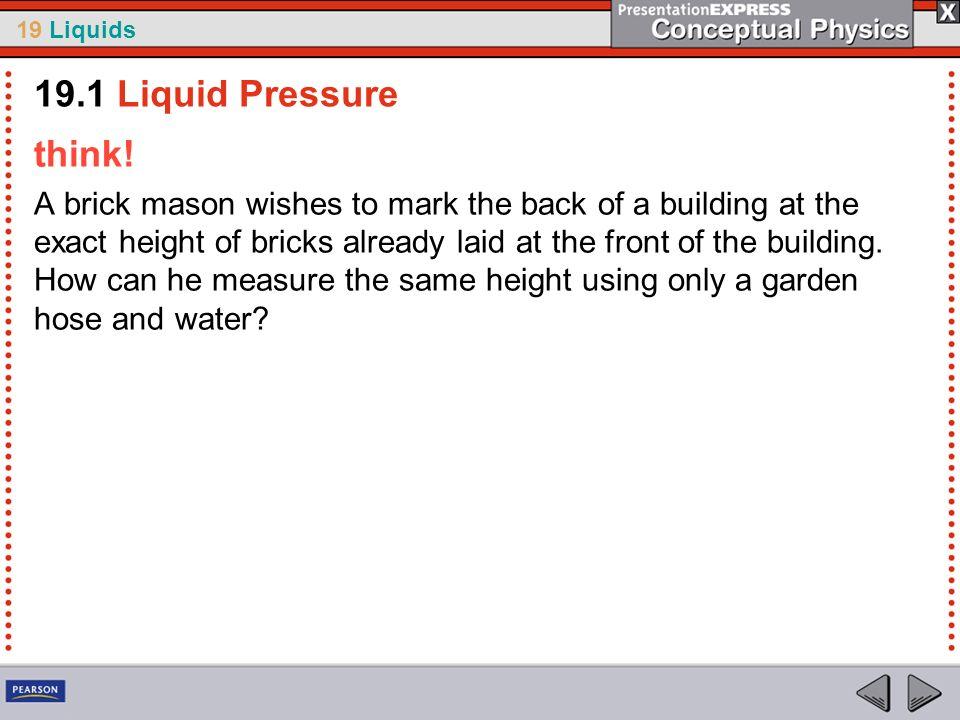 19.1 Liquid Pressure think!