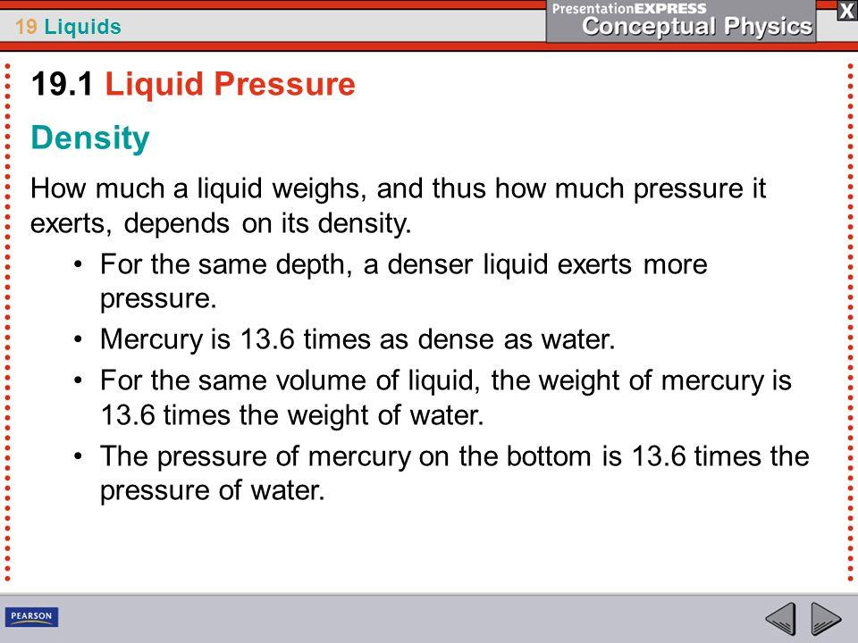 19.1 Liquid Pressure Density