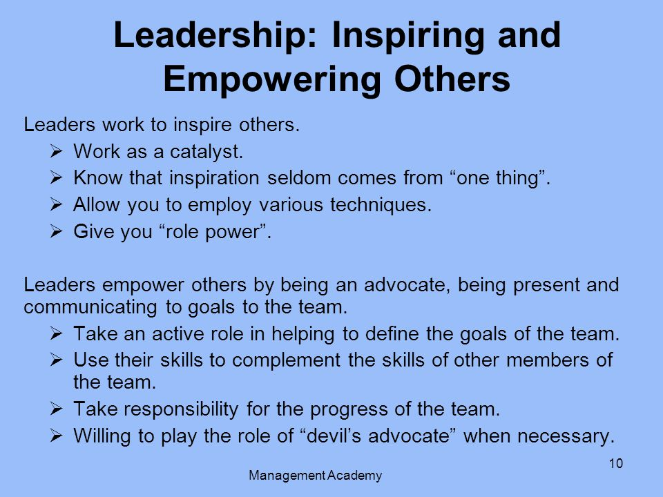 Leadership: Inspiring and Empowering Others