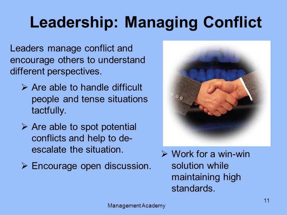 Leadership: Managing Conflict