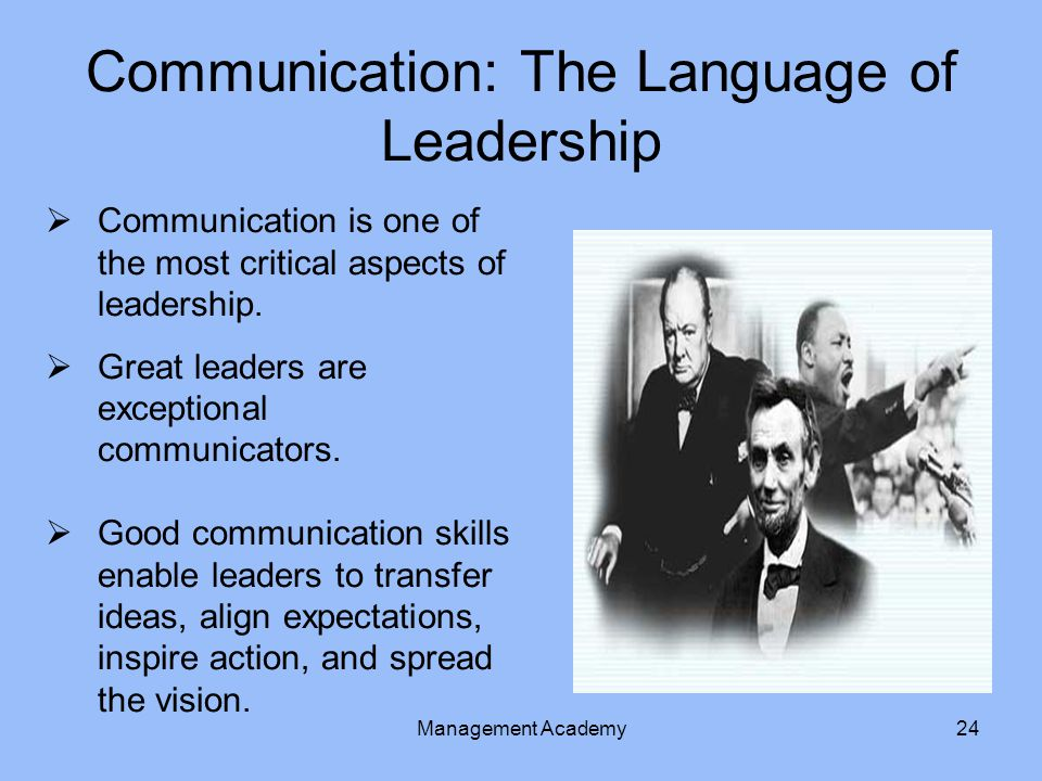 Communication: The Language of Leadership