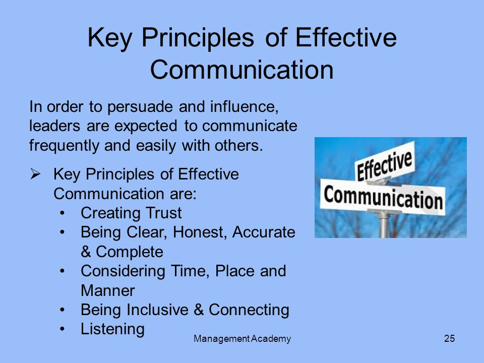 Key Principles of Effective Communication