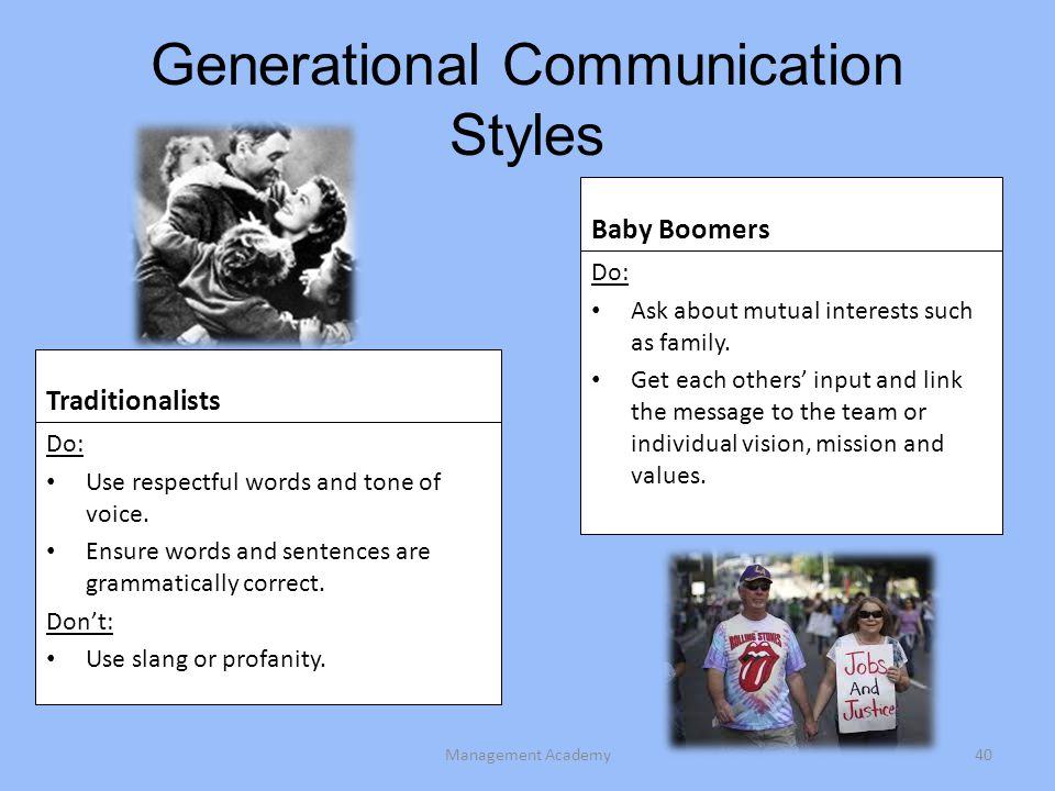 Generational Communication Styles