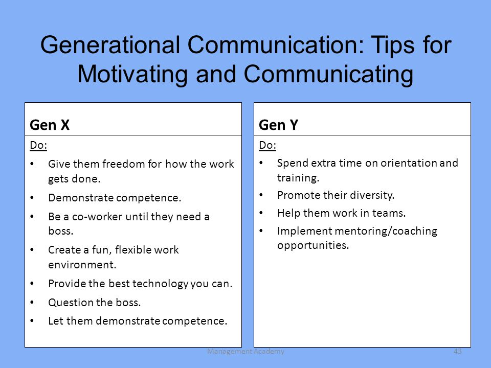 Generational Communication: Tips for Motivating and Communicating