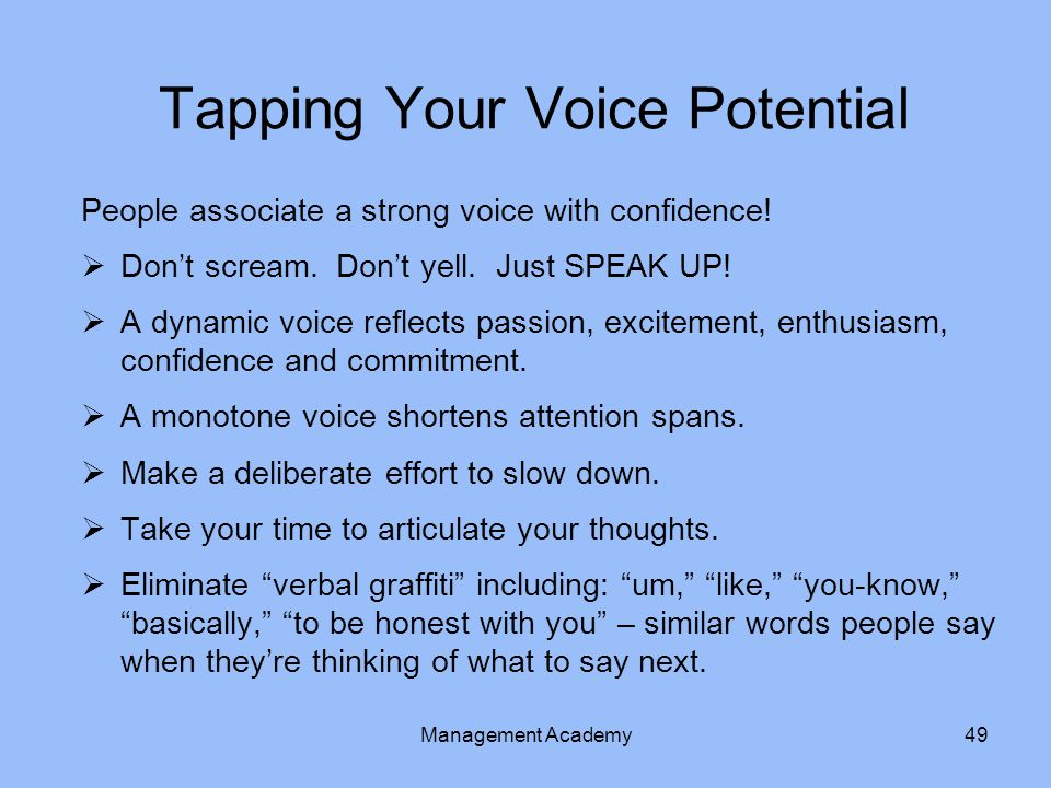 Tapping Your Voice Potential