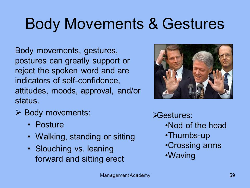 Body Movements & Gestures