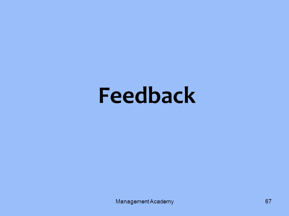 Feedback Management Academy