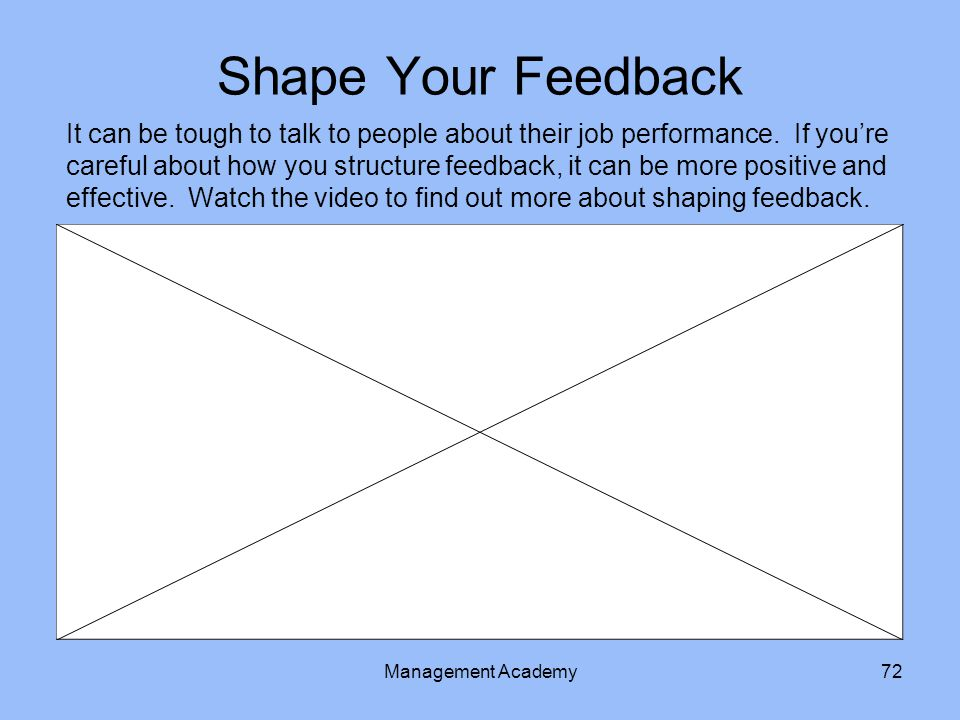 Shape Your Feedback