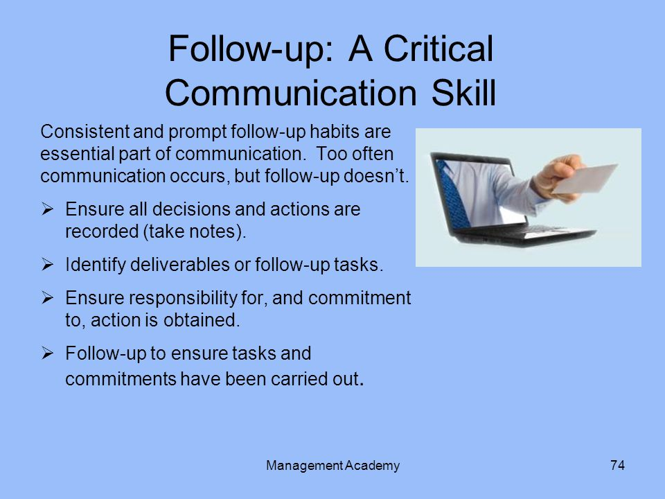 Follow-up: A Critical Communication Skill