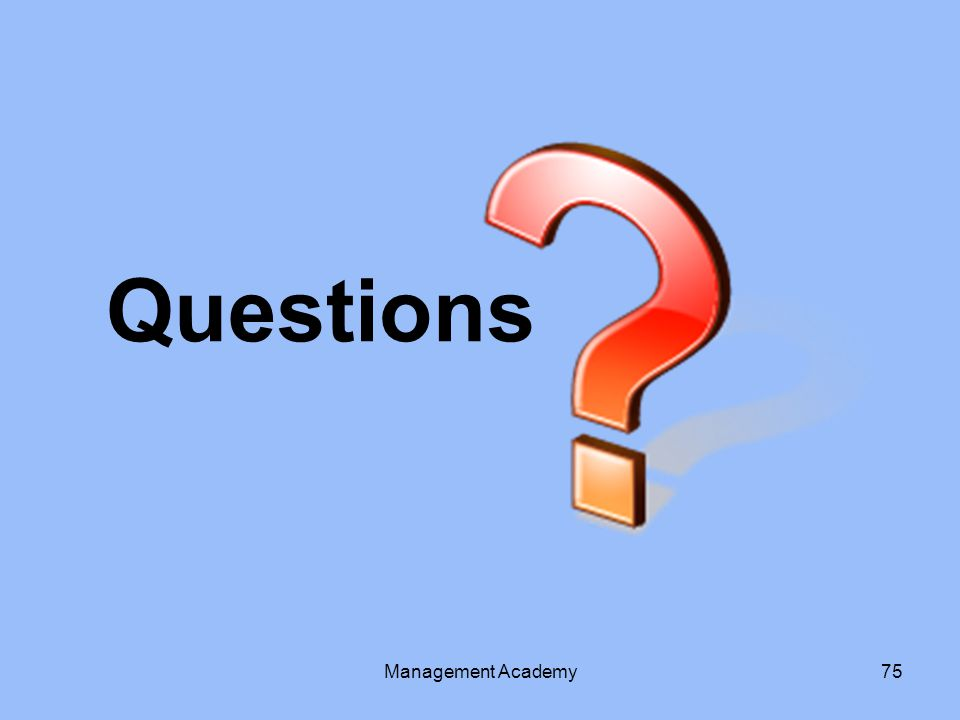 Questions Management Academy