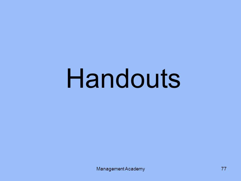 Handouts Management Academy