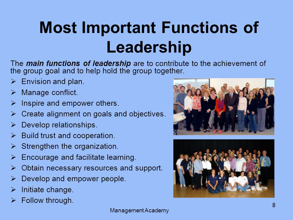Most Important Functions of Leadership