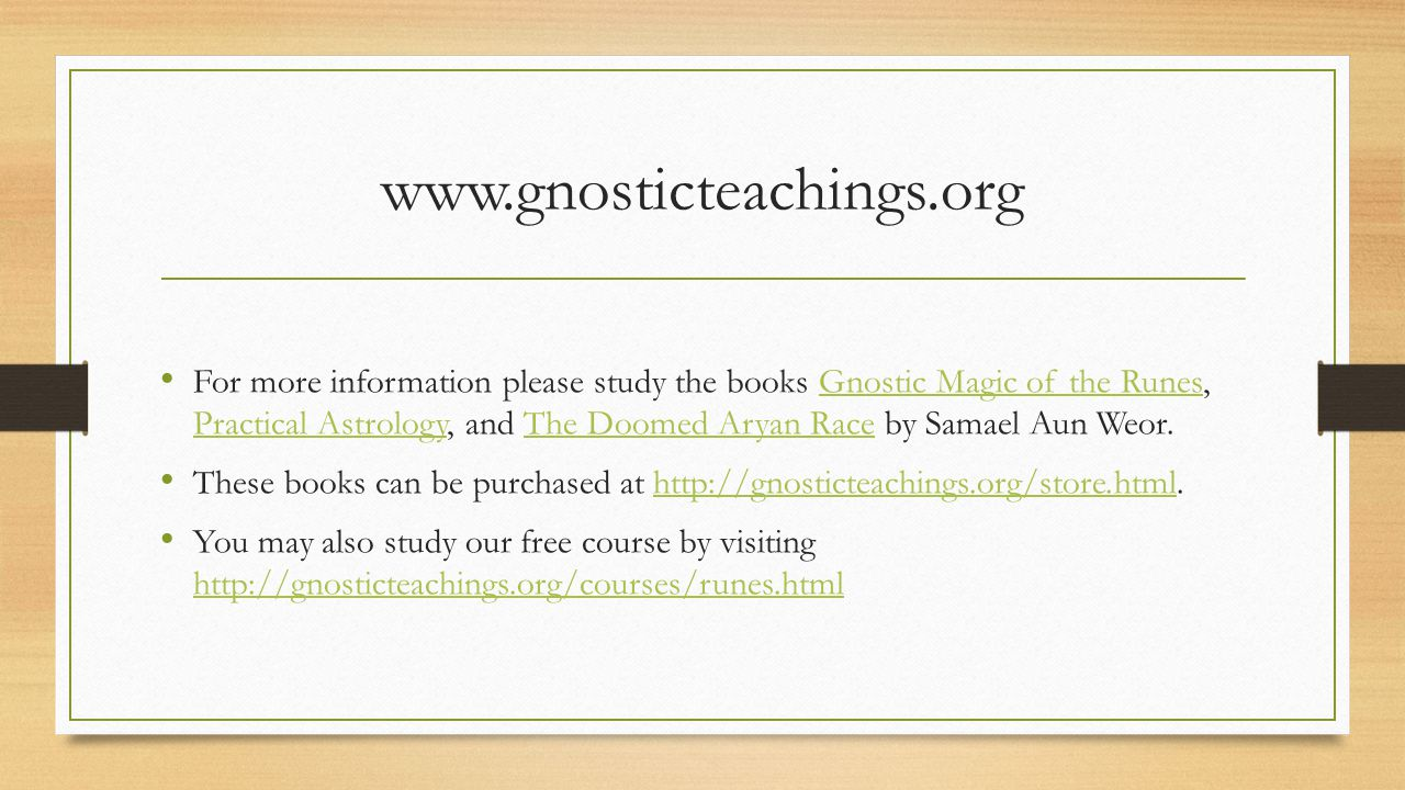 www.gnosticteachings.org