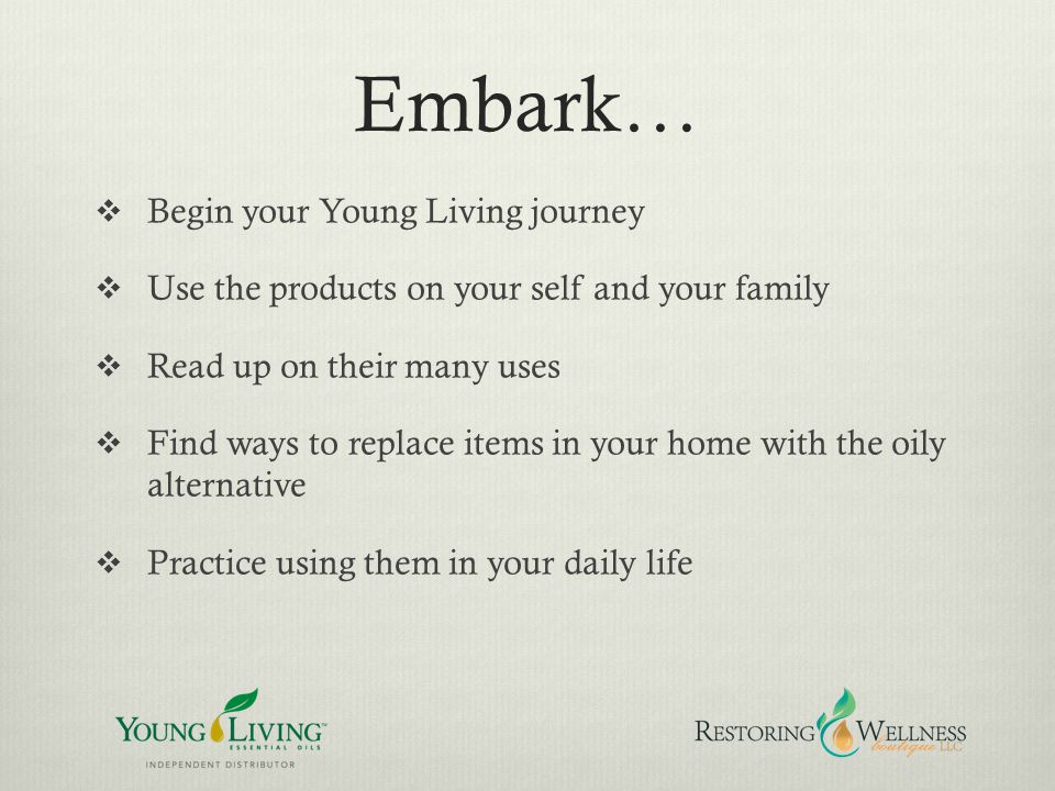Embark… Begin your Young Living journey