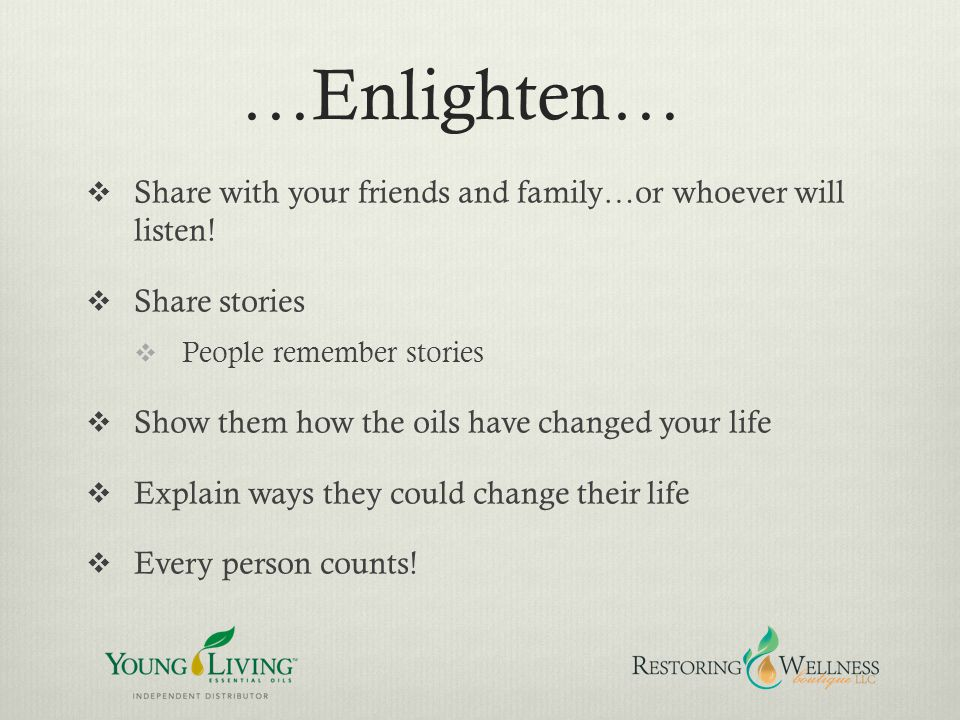 …Enlighten… Share with your friends and family…or whoever will listen!