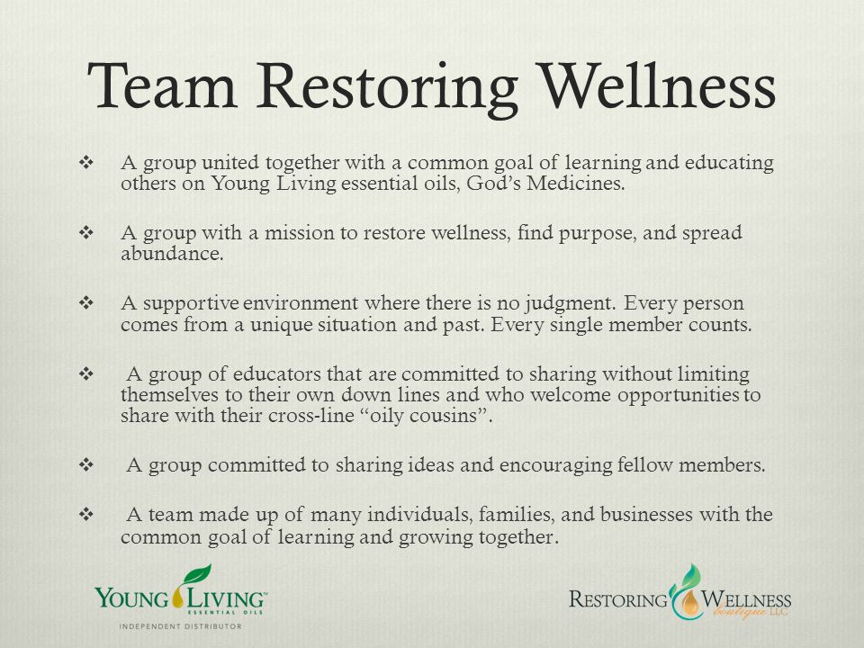 Team Restoring Wellness