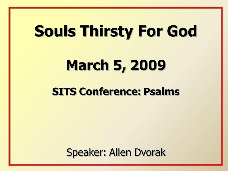 SITS Conference: Psalms
