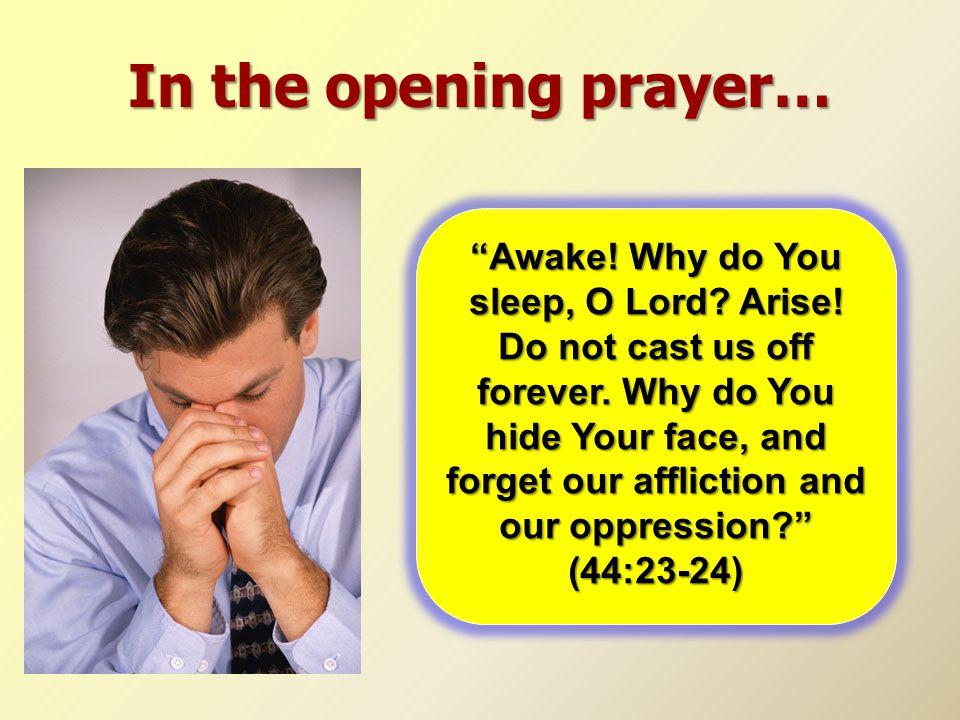 In the opening prayer…