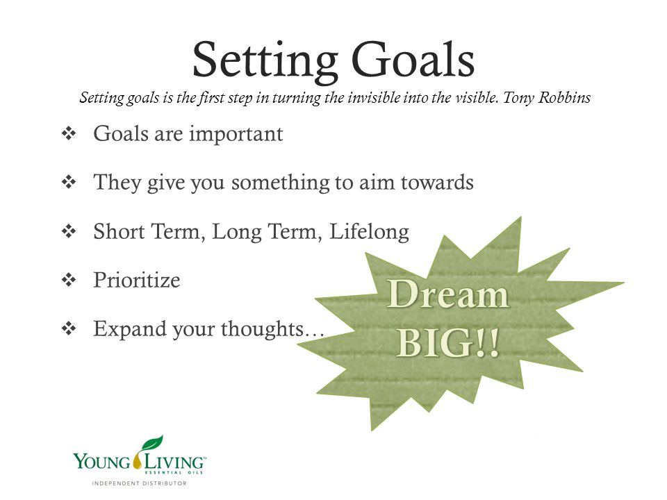 Setting goals is important