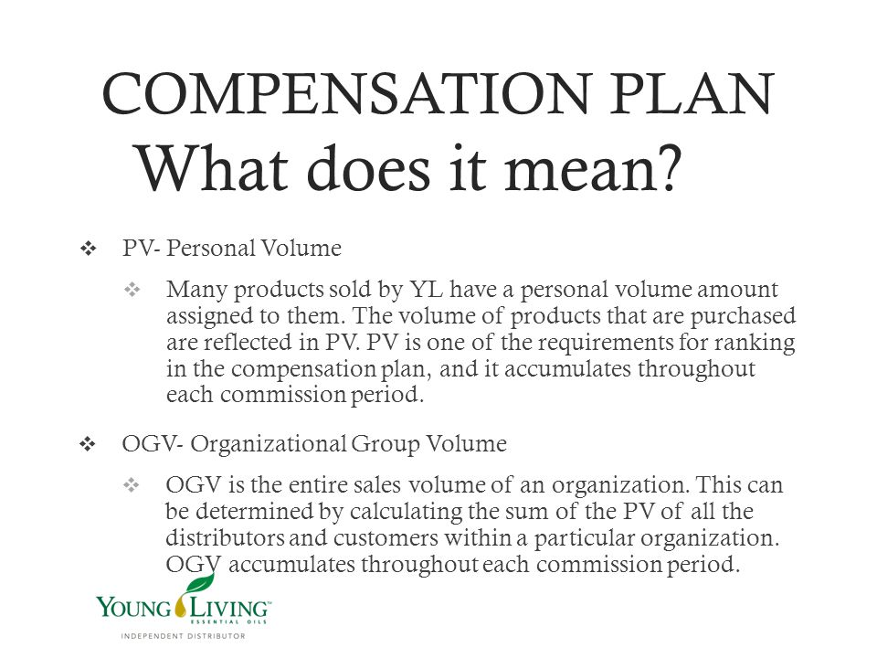 COMPENSATION PLAN What does it mean