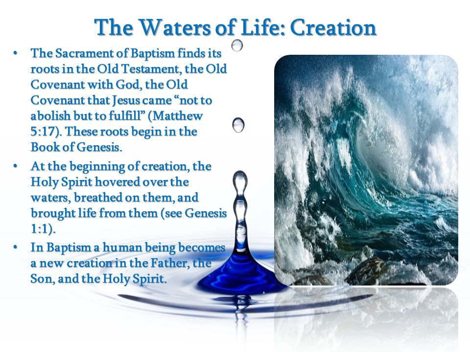The Waters of Life: Creation