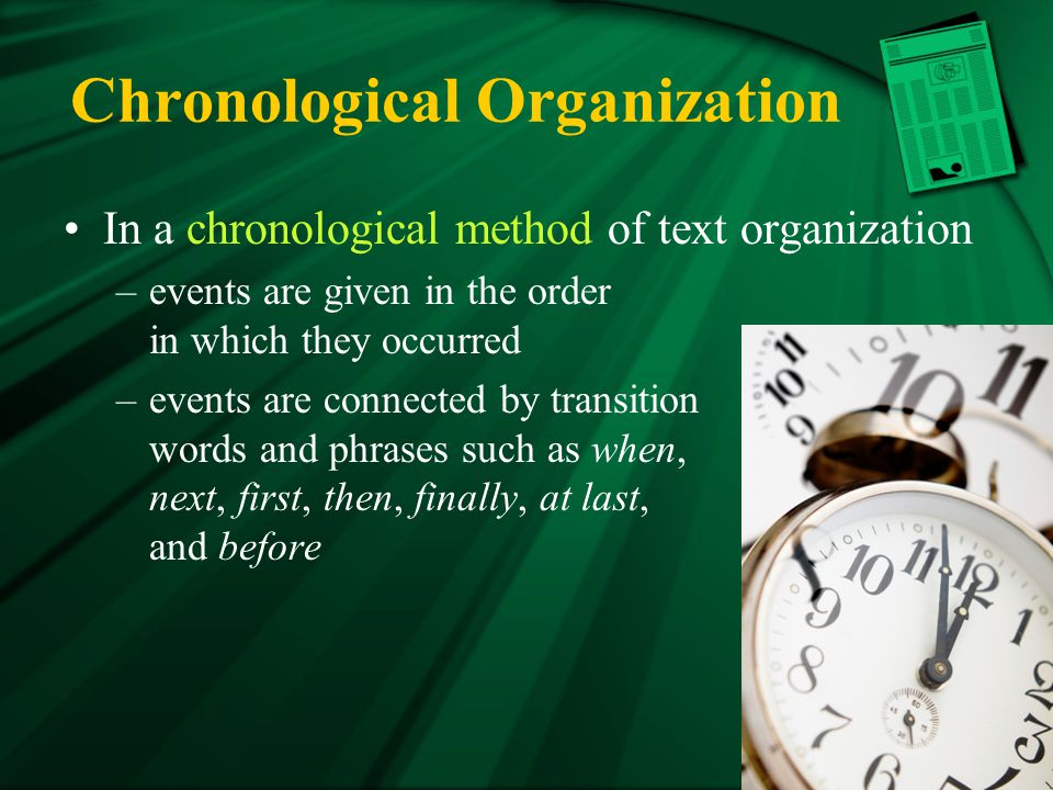 Chronological Organization