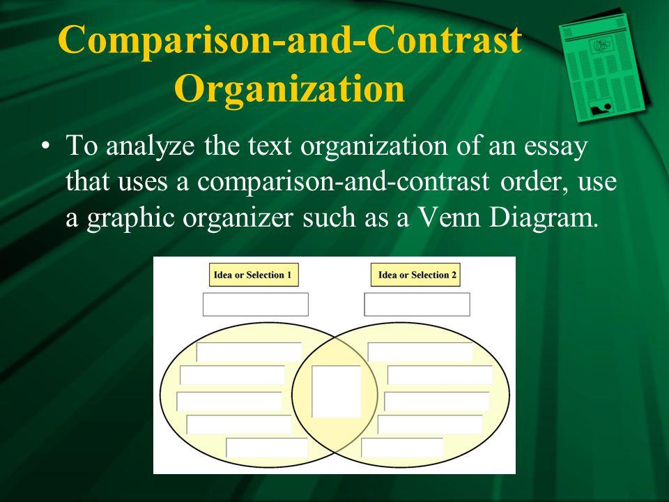Comparison-and-Contrast Organization