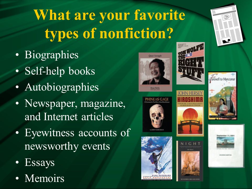 types of nonfiction essays articles and speeches essay Home free essays types of speeches  we will explore a variety of speeches  styles in this course, so here is a preview of  we will write a custom essay  sample on types of speeches specifically for you  and martin luther king  types of nonfiction: essays, articles, and speeches public speaking self- reflection.