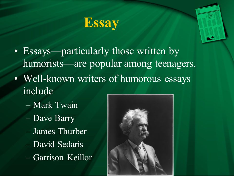 thurber and emerson wrote essays Our contemporary, montaigne: he pioneered the personal essay and made later, emerson wrote an essay about his james thurber lost most of his eyesight to a.