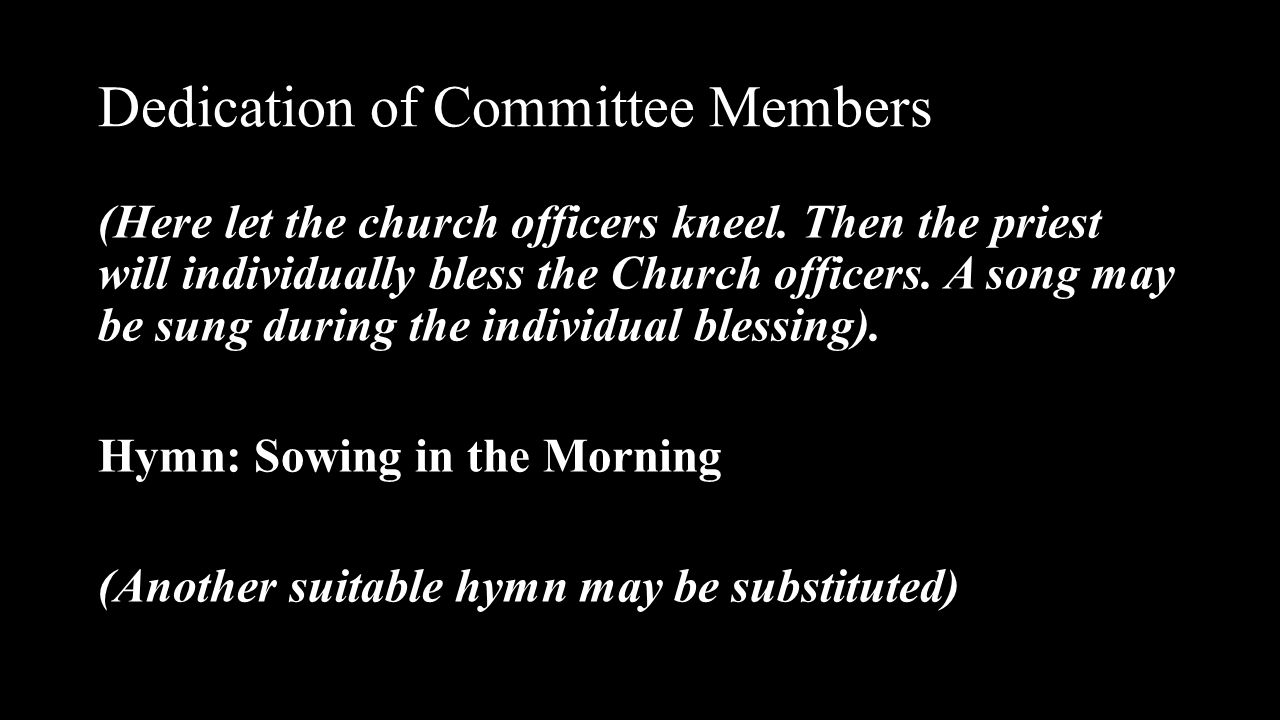 Dedication of Committee Members