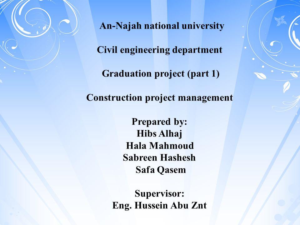 Civil engineering department Graduation project (part 1)