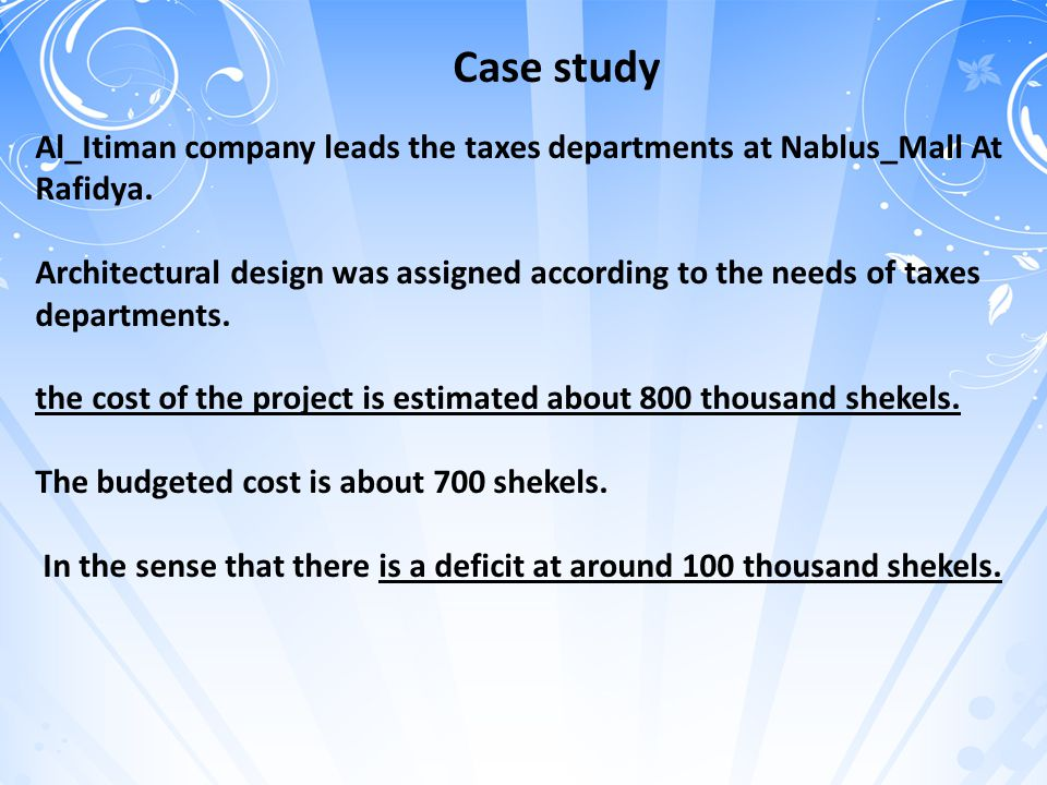 Case study Al_Itiman company leads the taxes departments at Nablus_Mall At Rafidya.