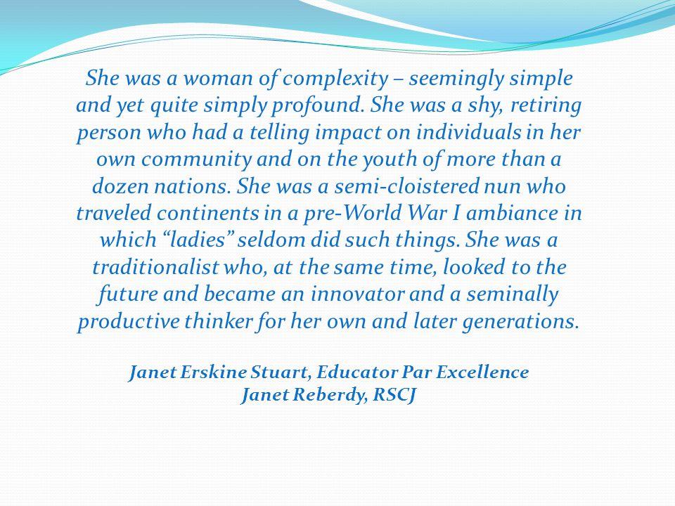 Janet Erskine Stuart, Educator Par Excellence